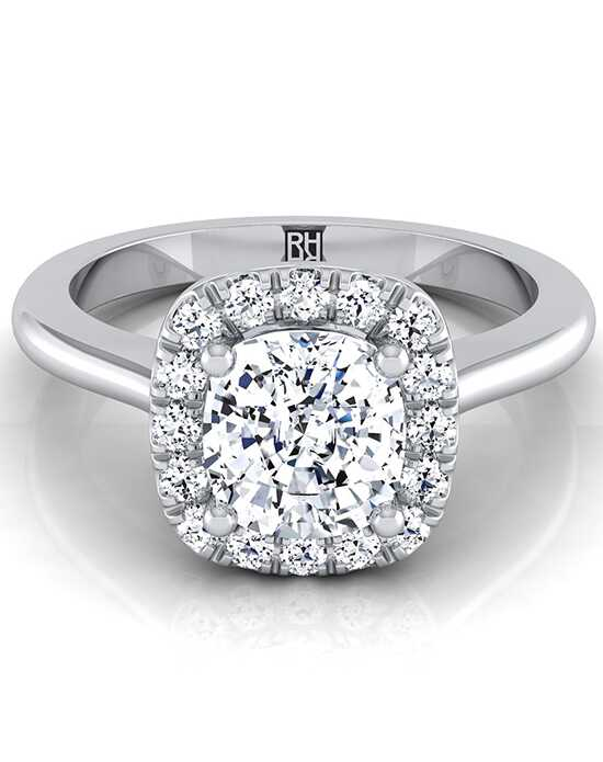 RockHer Elegant Cushion Cut Engagement Ring
