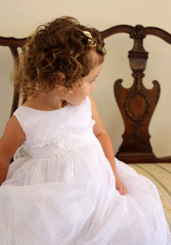 Isabel Garretón Capri White Flower Girl Dress