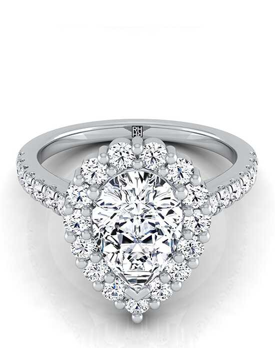 RockHer Glamorous Pear Cut Engagement Ring
