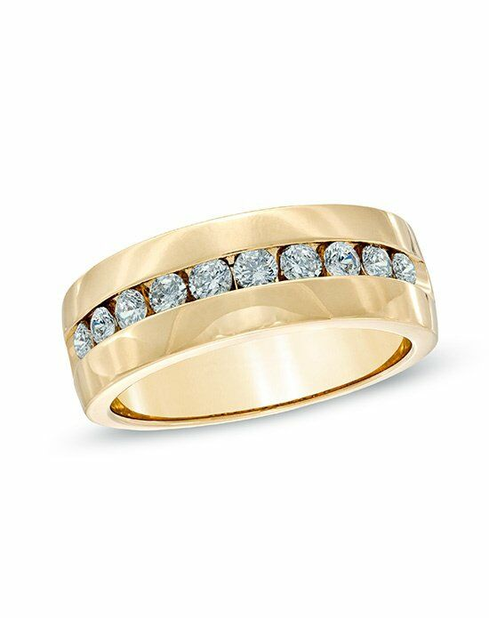 TW Channel Set Diamond Wedding Band In 14K Yellow Gold 18056416