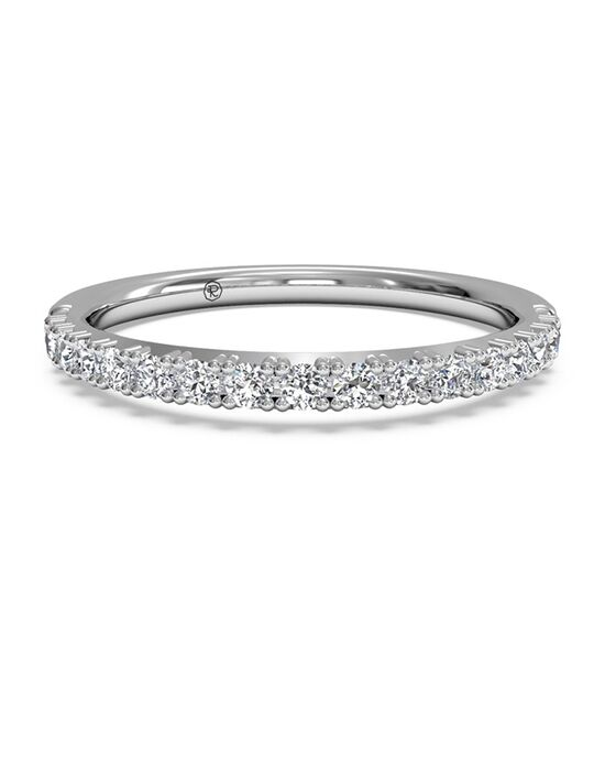 Ritani Women's French-Set Diamond Wedding Ring - in 14kt White Gold - (0.26 CTW) White Gold Wedding Ring