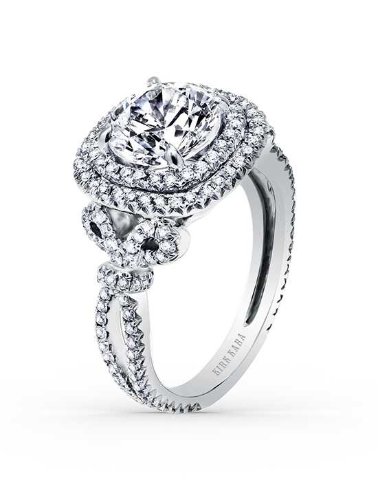 Kirk Kara Glamorous Round Cut Engagement Ring