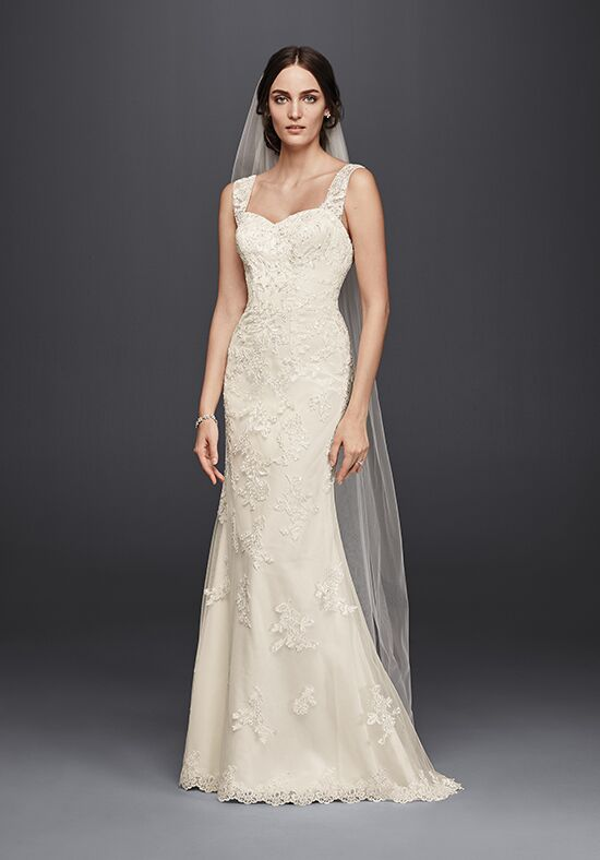 David's Bridal Jewel Style WG3816 Sheath Wedding Dress