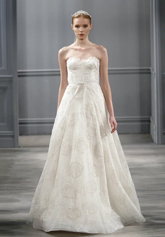Monique lhuillier bloom wedding dress the knot for Price of monique lhuillier wedding dresses