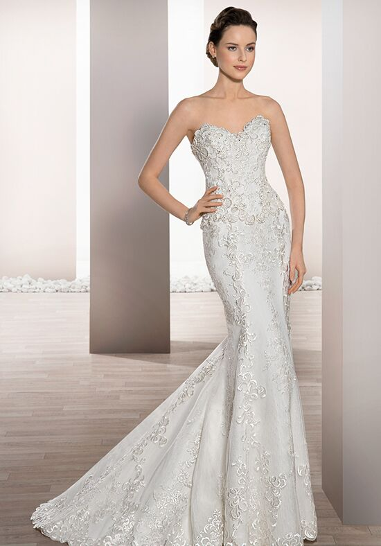 Demetrios 728 Sheath Wedding Dress