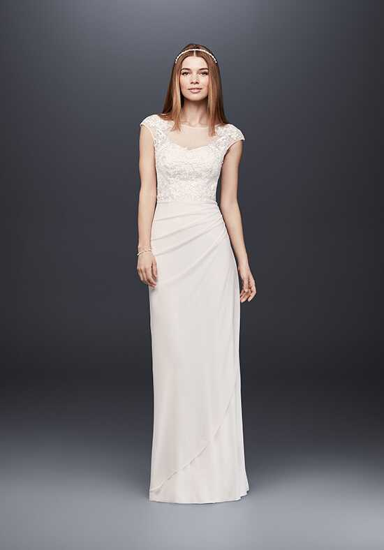 David's Bridal David's Bridal Collection Style 184336DB Sheath Wedding Dress