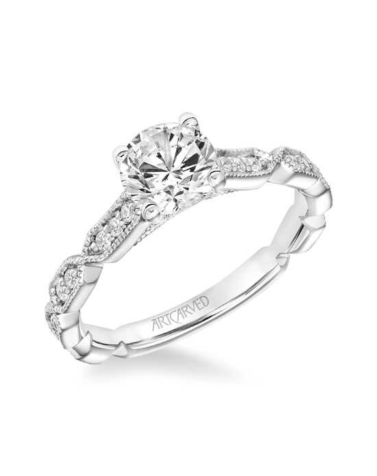 ArtCarved Vintage Cut Engagement Ring
