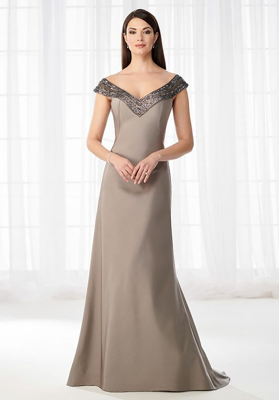 Cameron Blake 218616 Gray Mother Of The Bride Dress