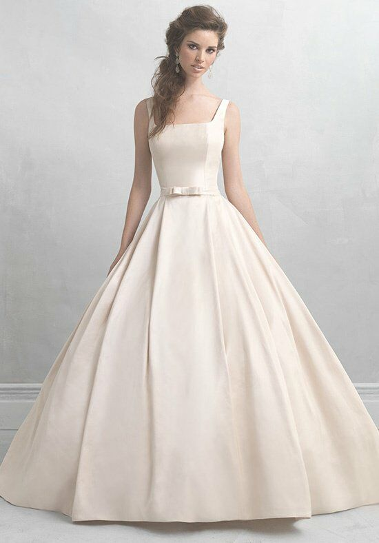 Square Neck Bridesmaid Dress