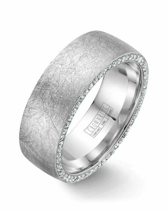 CrownRing WB-022D8W-M10 White Gold Wedding Ring