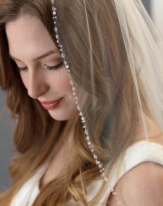 USABride Delicate Swarovski Crystal Beaded Veil (1 Layer) VB-5061 Wedding Veils photo