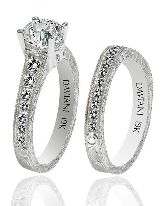 Daviani Love Links Collection DCR1136 White Gold Wedding Ring