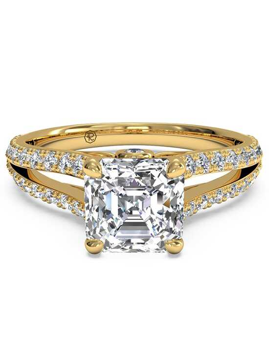 Ritani Glamorous Asscher Cut Engagement Ring