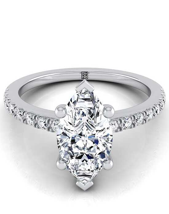 RockHer Unique Marquise Cut Engagement Ring