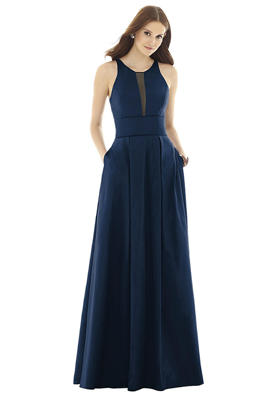 Alfred Sung D732 Halter Bridesmaid Dress