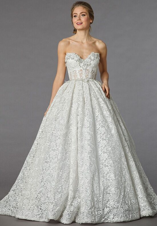 Pnina tornai for kleinfeld 4247 wedding dress the knot for Kleinfeld wedding dress designers
