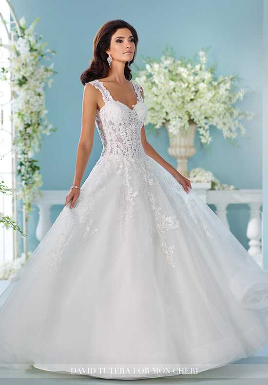 David Tutera for Mon Cheri 216252 Nilam A-Line Wedding Dress