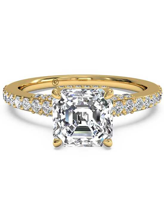 Ritani French-Set Diamond Band Engagement Ring - in 18kt Yellow Gold (0.45 CTW) for a Asscher Center Stone Engagement Ring photo