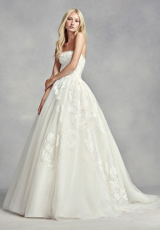 White by vera wang white by vera wang style vw351297 for Average price of vera wang wedding dress