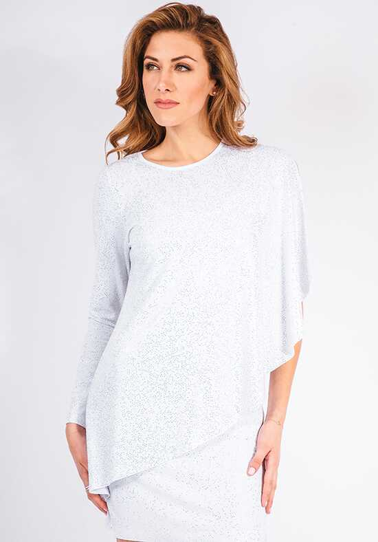 Grayse Wedding Party Crystal Asymmetrical Top - W5400309 White Mother Of The Bride Dress