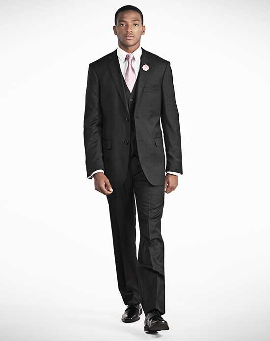 Generation Tux Charcoal Notch Lapel Suit Black, Gray Tuxedo