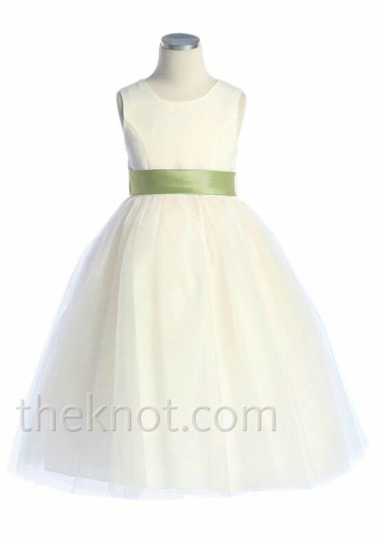 Pink Princess D2772 Green Flower Girl Dress
