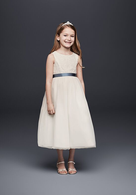 David's Bridal Flower Girl David's Bridal Style OP222 Ivory Flower Girl Dress