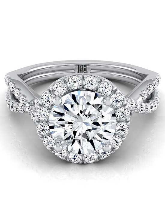 RockHer Glamorous Round Cut Engagement Ring