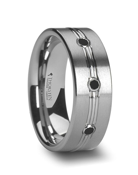Mens Tungsten Wedding Bands W762-TBDT Tungsten Wedding Ring