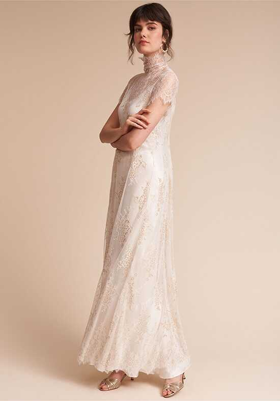 BHLDN Bella Dress & Exalted Overdress Sheath Wedding Dress