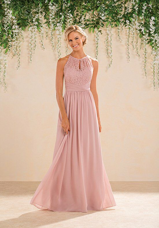 B2 by Jasmine B183016 Halter Bridesmaid Dress