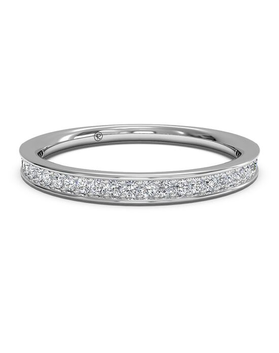 Ritani Women's Micropave Diamond Wedding Band - in 14kt White Gold (0.15 CTW) White Gold Wedding Ring