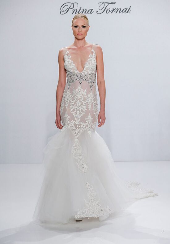 Pnina tornai for kleinfeld 4354 wedding dress the knot for Pnina tornai wedding dresses prices