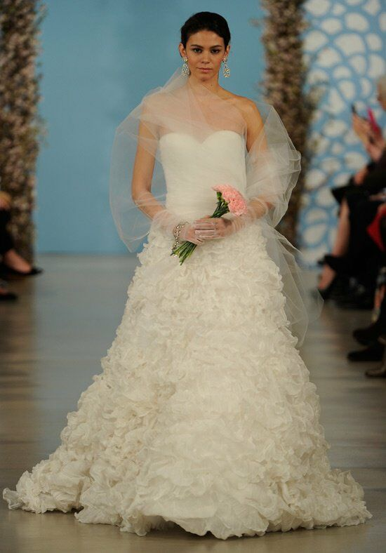 Oscar de la Renta Bridal 2014 Look 25 A-Line Wedding Dress