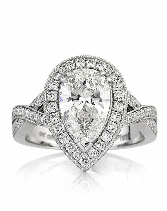Mark Broumand 3 14ct Pear Shaped Diamond Engagement Ring Engagement Ring Th
