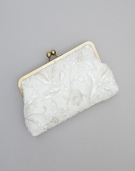 Davie & Chiyo | Clutch Collection Florence Clutch Ivory, Champagne Clutches + Handbag