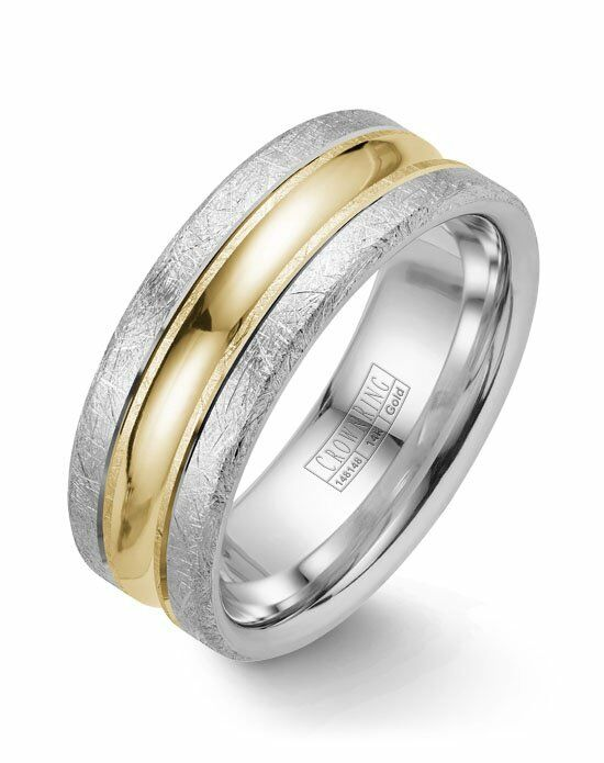 CrownRing WB-024C8YW-M10 Gold Wedding Ring