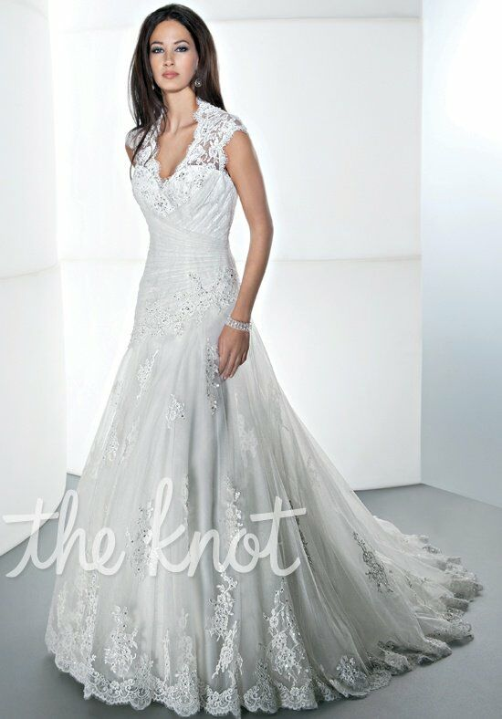 Demetrios 1437 A-Line Wedding Dress