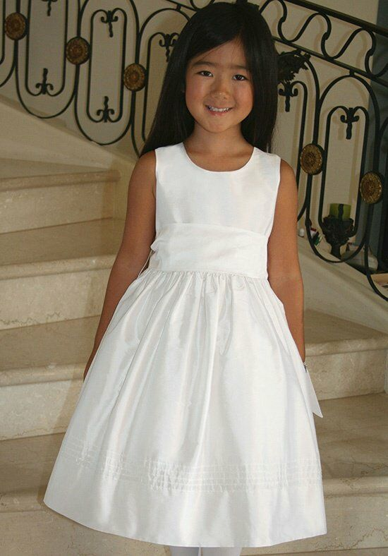 Isabel Garretón Timeless White Flower Girl Dress
