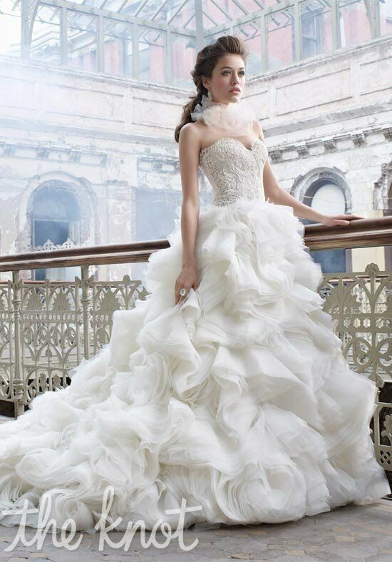 Lazaro 3213 Ball Gown Wedding Dress