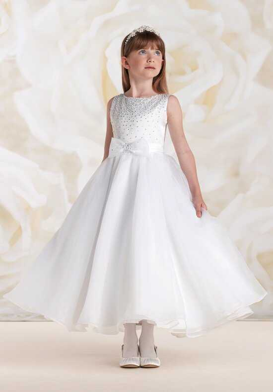 Joan Calabrese by Mon Cheri 115310 White Flower Girl Dress