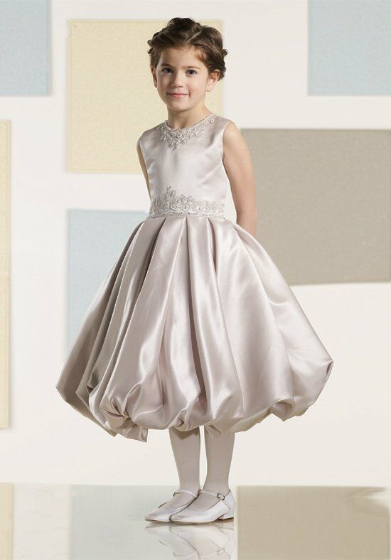 Joan Calabrese by Mon Cheri 210352 White Flower Girl Dress