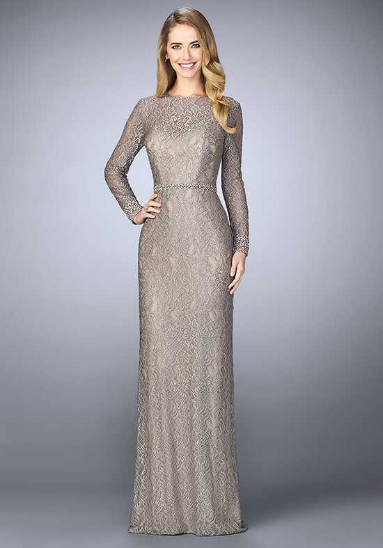 La Femme Evening 23115 Silver Mother Of The Bride Dress