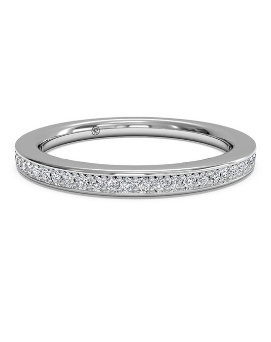 Ritani Women's Micropave Diamond Wedding Band - in 14kt White Gold (0.12 CTW) White Gold Wedding Ring