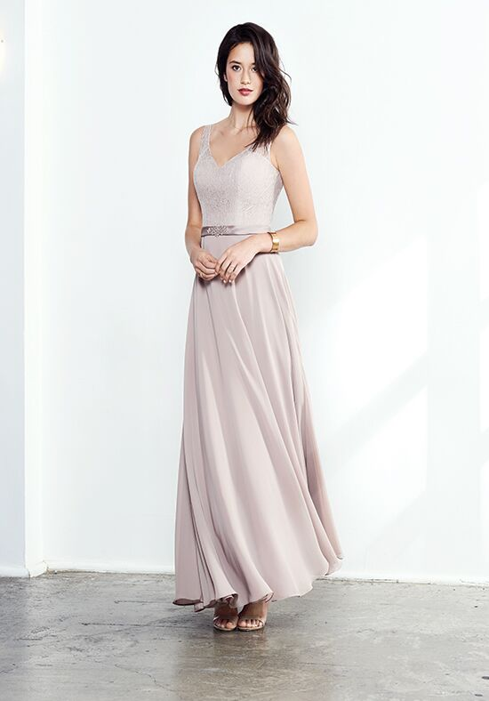 Colour by Kenneth Winston 5286L V-Neck Bridesmaid Dress