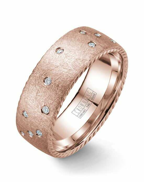 CrownRing WB-020RD8R-M10 Rose Gold Wedding Ring