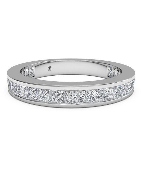 Ritani Women's Channel-Set Princess Diamond Eternity Wedding Ring - in 14kt White Gold - (1.25 CTW) White Gold Wedding Ring