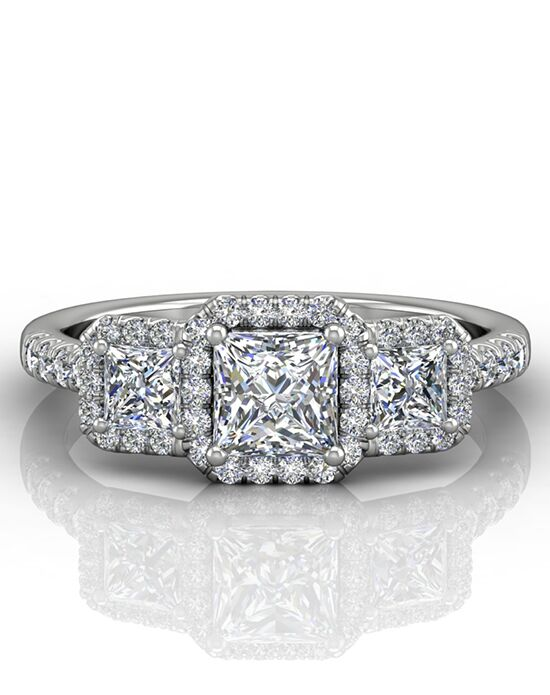 FlyerFit by Martin Flyer Glamorous Princess Cut Engagement Ring