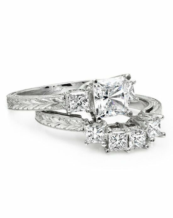 Coast Diamond Vintage Princess Cut Engagement Ring