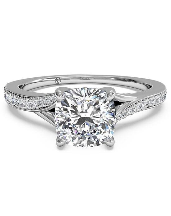 Ritani Elegant Cushion Cut Engagement Ring